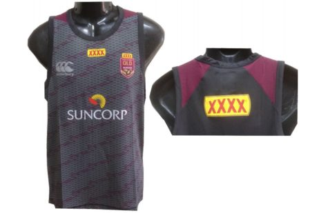 NRL State of Origin QRL Player Training Singlet