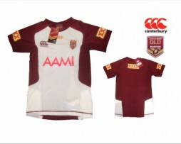 NRL QRL State of Origin Replica Team Training T-Shirt (White)