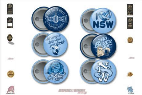 State of Origin Originals NSW Team Button Badges