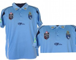 NRL State of Origin NSW Rugby League Replica Polo (Light Blue)