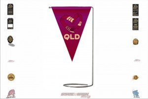 State of Origin Originals QLD Team Table Flag Stands