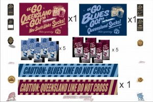 State of Origin Originals QLD and NSW Team Party Pack A