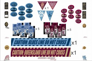 State of Origin Originals QLD and NSW Team Party Pack B