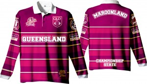 "State of Origin 2018 Team ""Classic old school by EAB, QLD Mens long sleeve Simply the Best Jersey"""