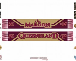 "State of Origin Team ""I am Maroon "" QLD Scarf"
