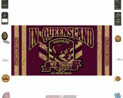 State of Origin Originals 2018 QLD We Trust Medium Banner / Flag