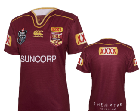 NRL State of Origin QRL Ladies Player Replica Jersey